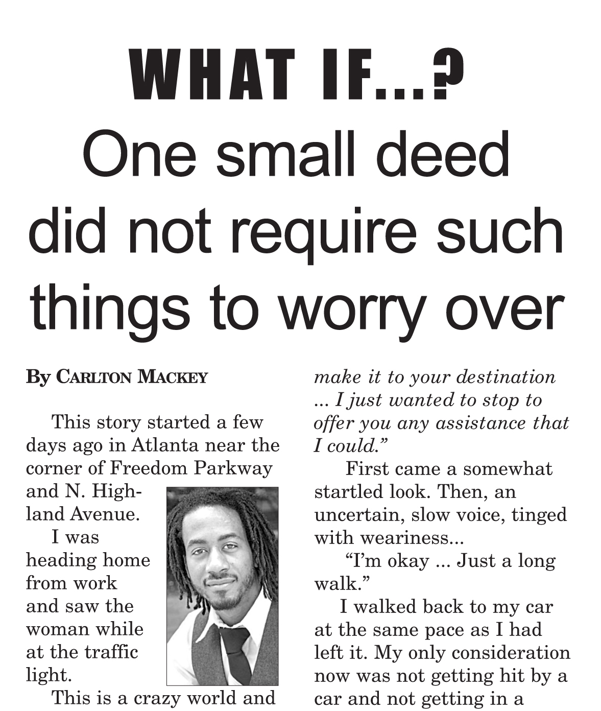 Opinion Editorial by 50 Shades of BLACK Creator feature in local newspaper