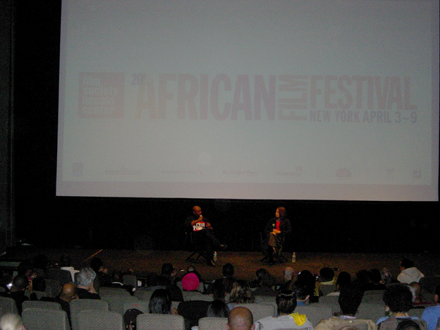 """Jimmy Jeans-Louis at the New York African Film Festival projection of """"Toussaint Louverture""""; April 7th, 2013."""