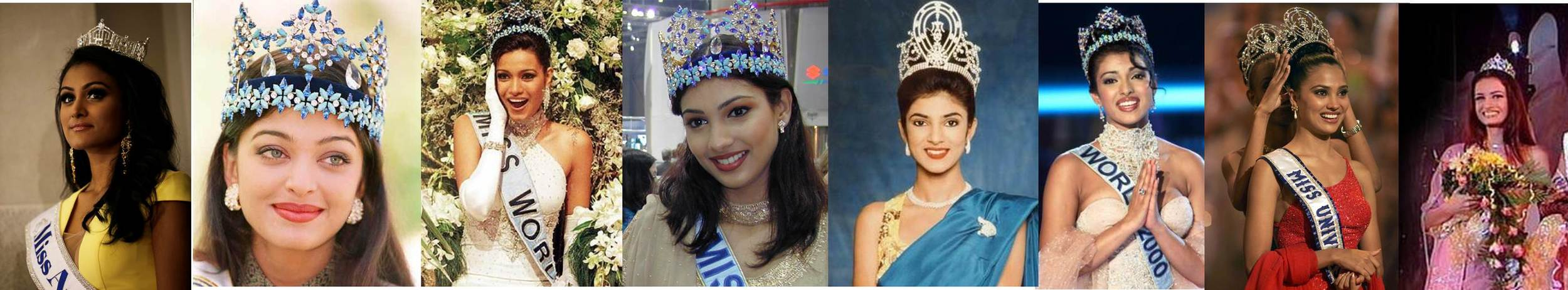 Nina vs. past Miss World and Miss Universe pageant winners (Click to Enlarge)