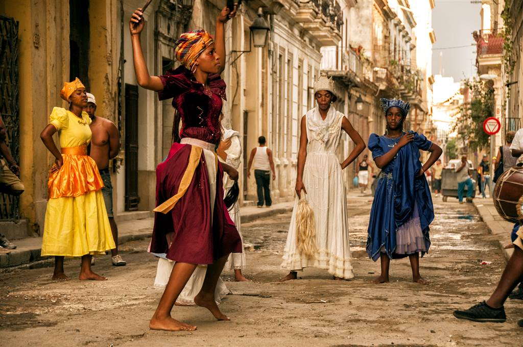 In the photo above, a group practices for Carnival in the street.   Photo by: Dr. LaFevor