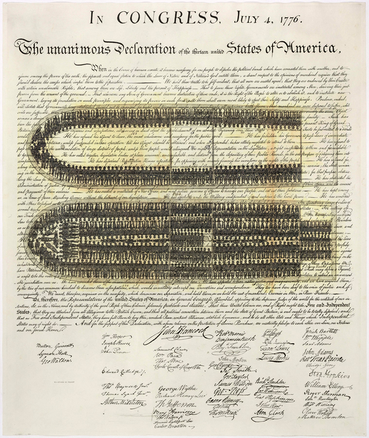 The Declaration of Bondage 24 1/2 Inches x 29 3/4 Inches (Ink on Archival Rag Paper) by Carlton Mackey July 3, 2016