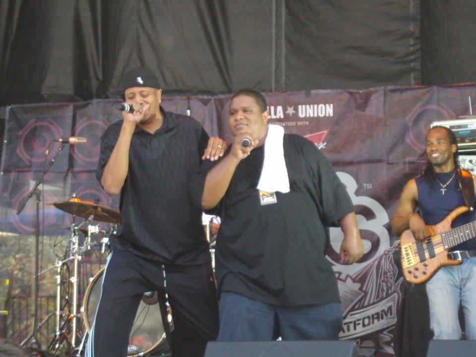Chali 2na and Laid Law at Rock the Bells, Vancouver, 2009. Photo by Blake Morneau