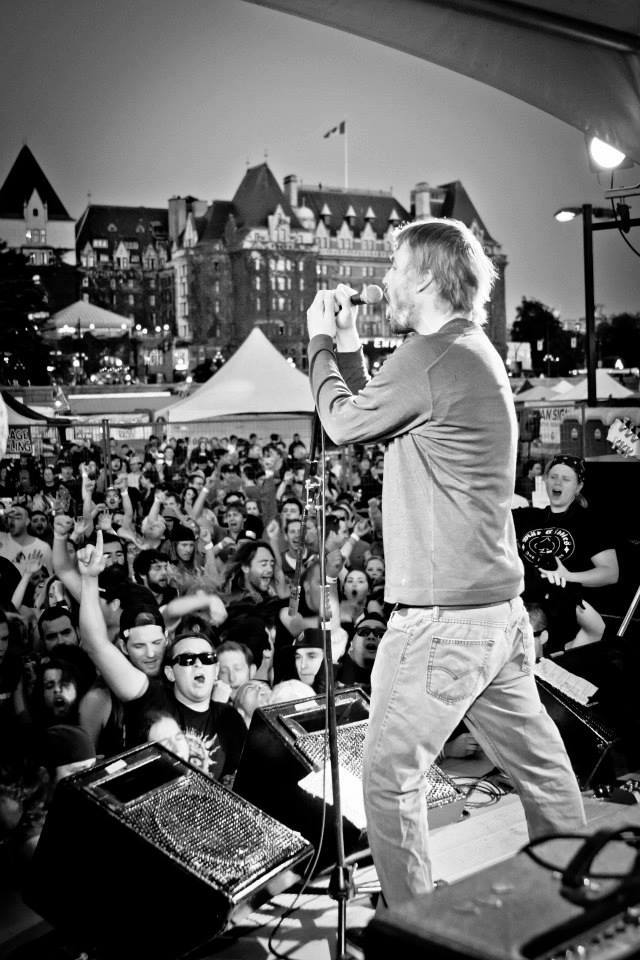 Chuck rocking his heart out for the Victoria Ska Fest.