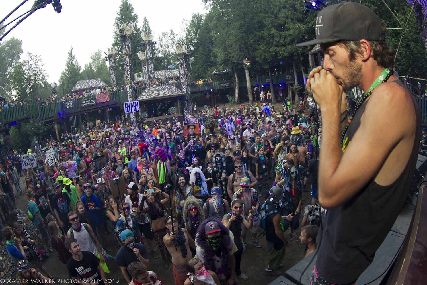 Blasting the Village Stage with his dirty harmonica grooves. Photo by  Xavier Photography .