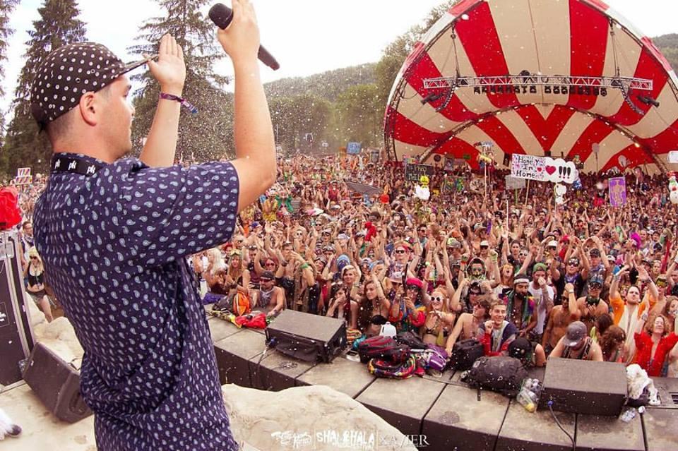 Def3 rocking the AMP at Shambhala. Photo By  Xavier Photography .