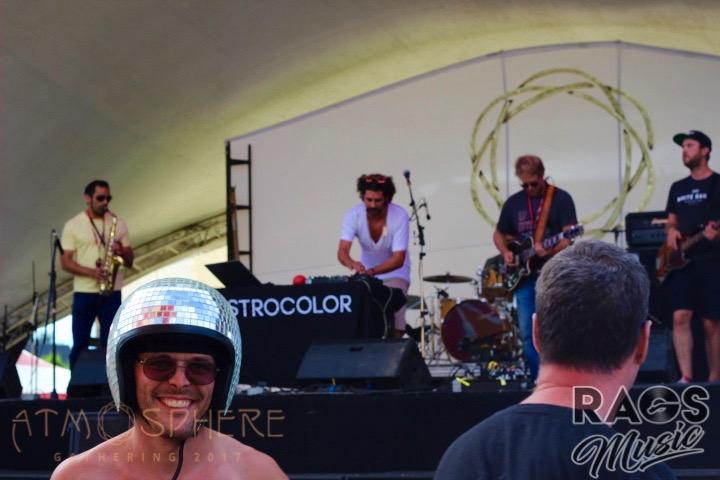 Disco-helmeted man delights in Astrocolor.