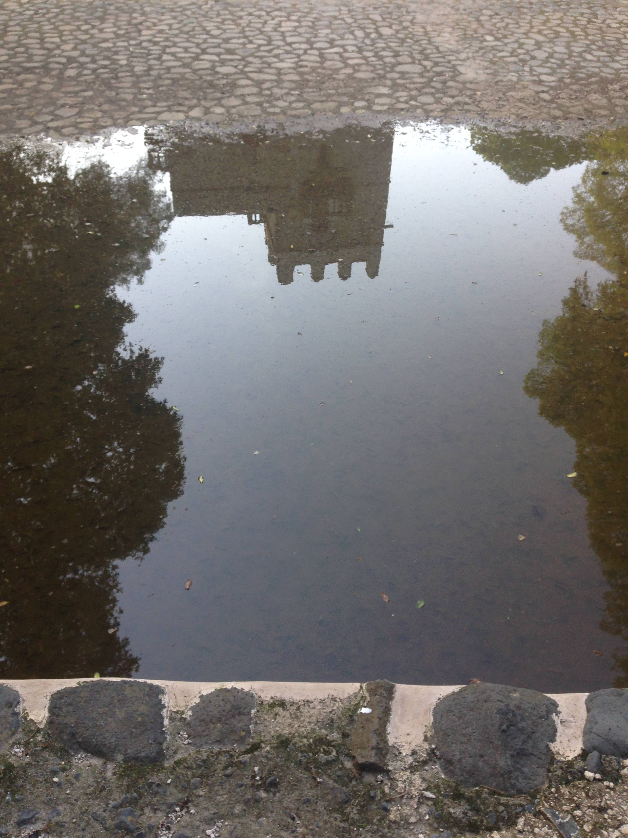 Reflection in the water of Haile Selassie's private family pool