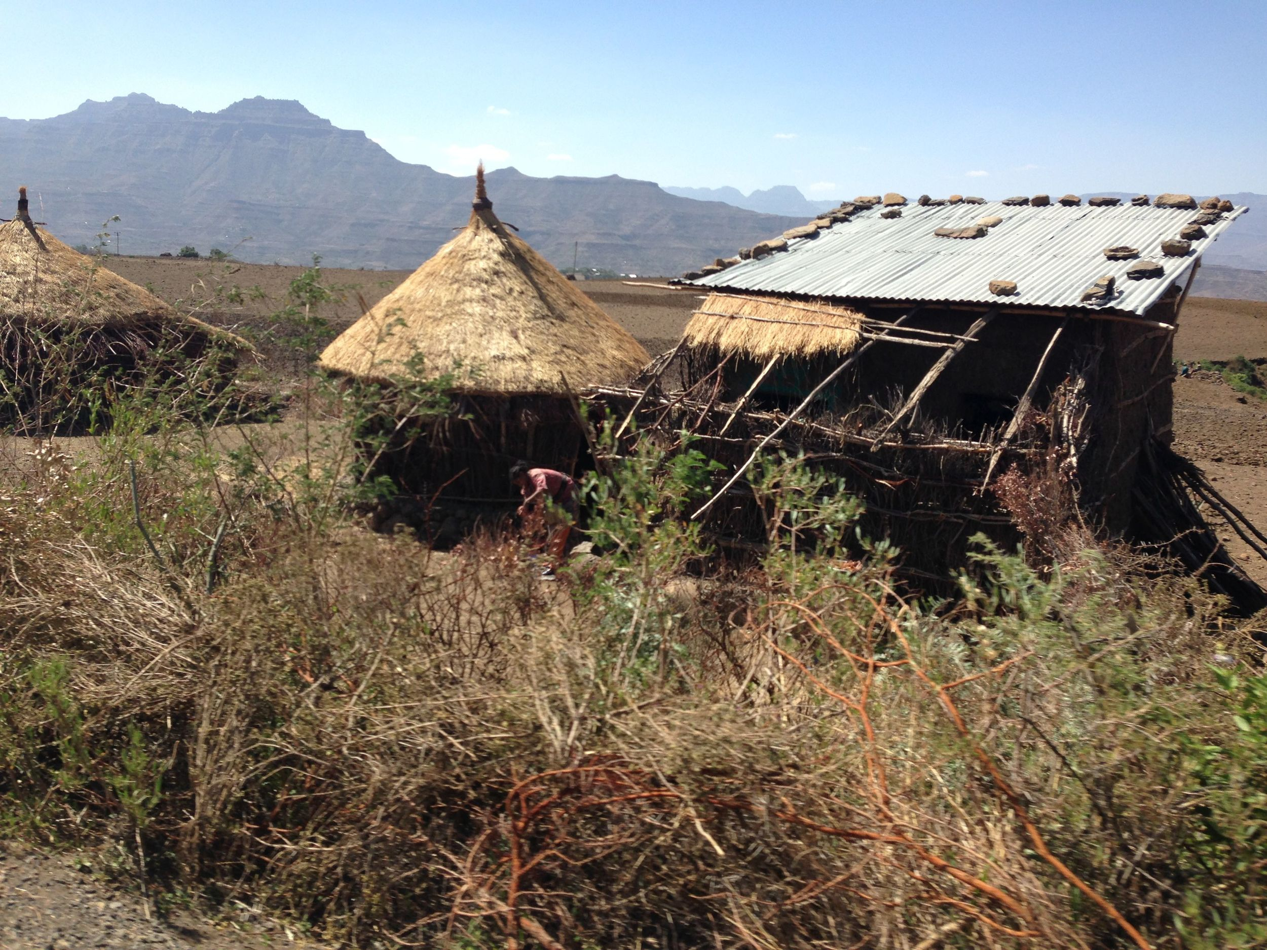 "The huts, ""tukuls"" are specific shelters to Lalibela."