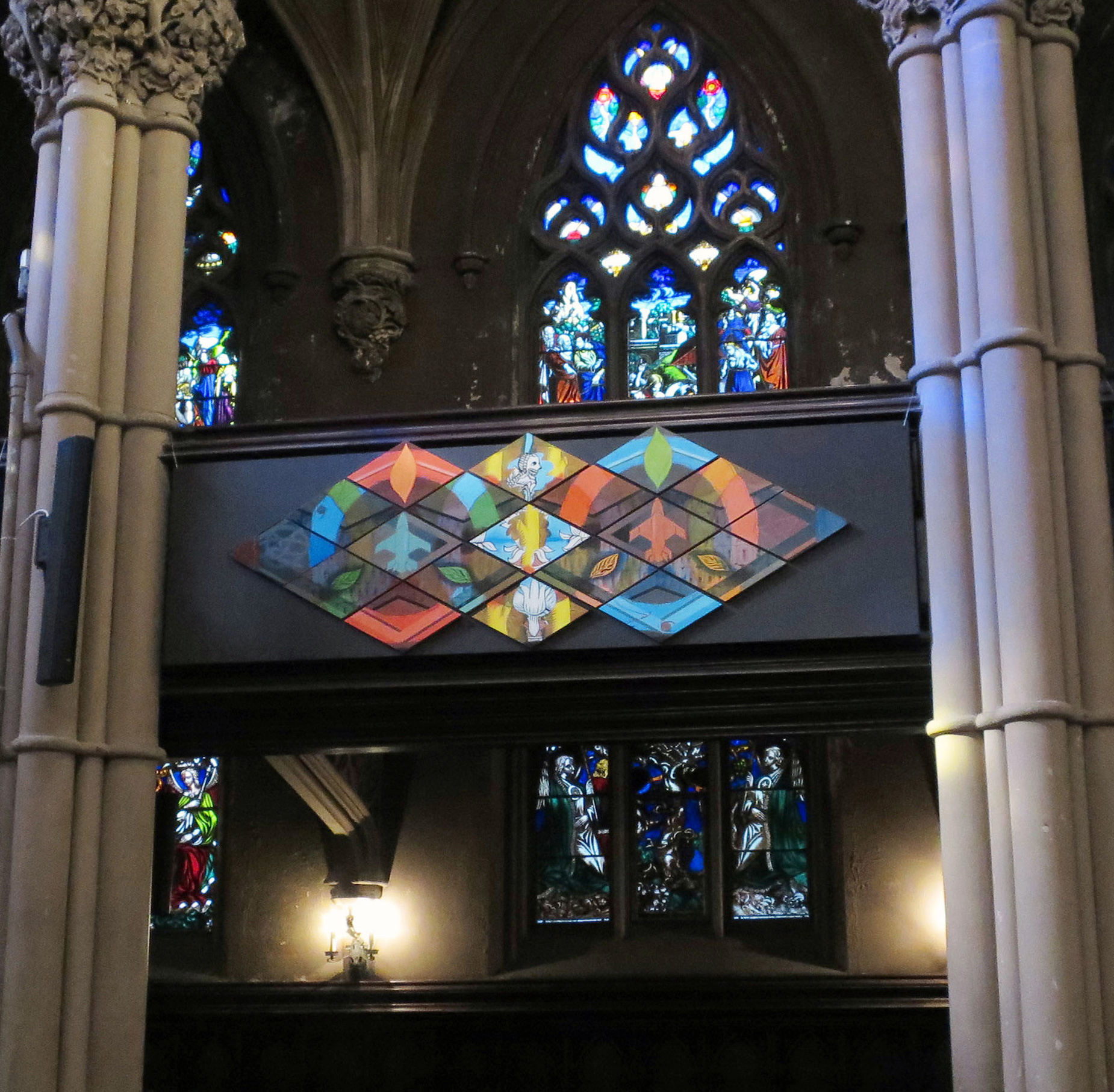 Installation view,  Back To Life  St. Ann's Church,Brooklyn, NY 2015