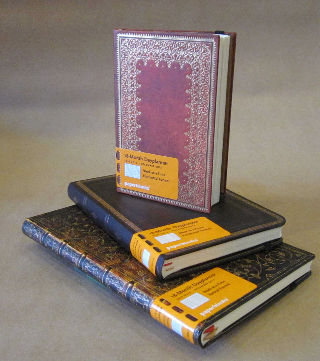 Dated agendas from Filofax, Letts, Moleskine and these from PaperBlanks.
