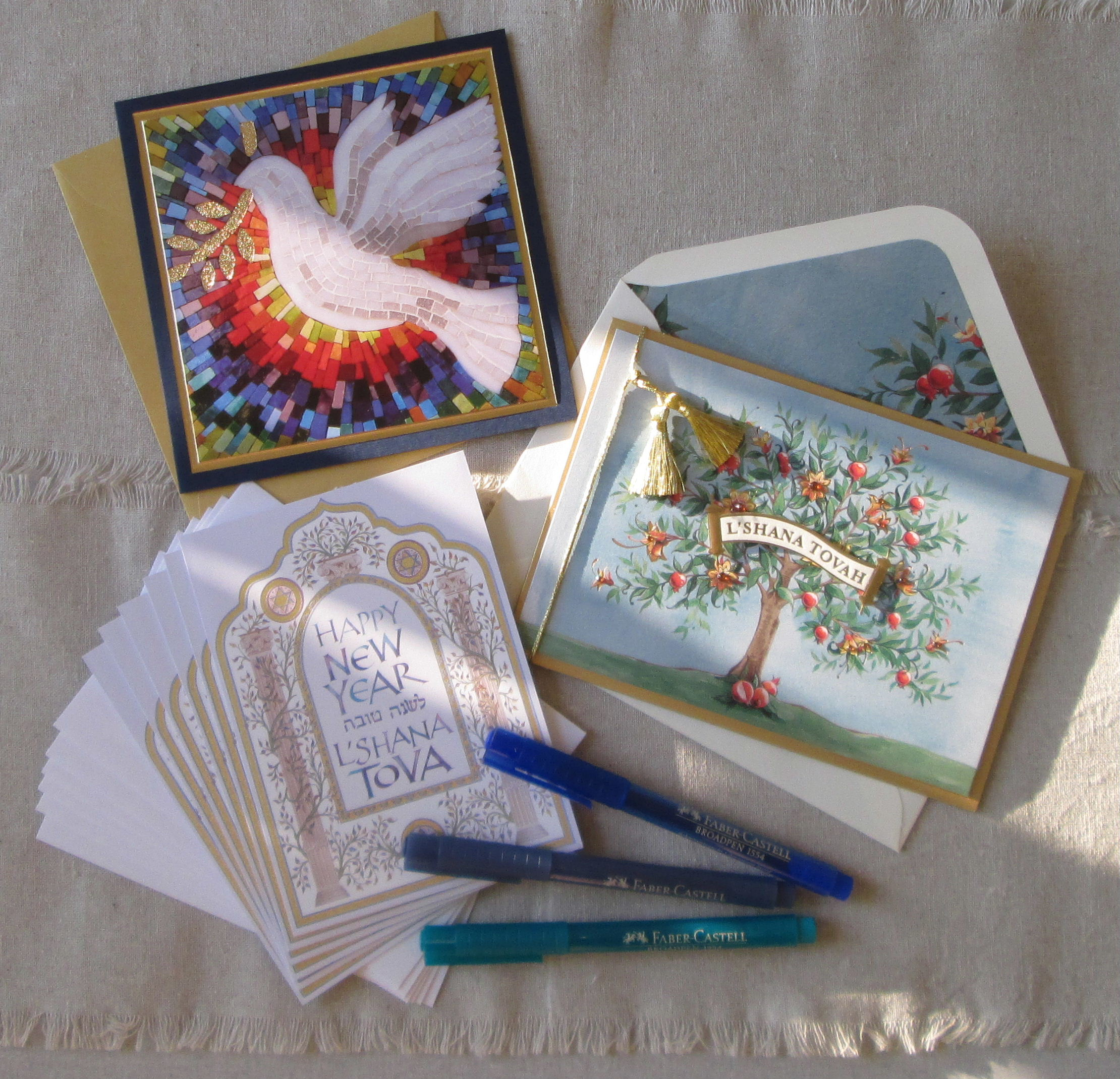 September 5, 2015: Send greetings to celebrate the new year with gorgeous Rosh Hashanah cards, available in singles or packages. L' Shanah tovah tikatevu, and may you share this sweet celebration with family and friends! Rosh Hashanah begins next Sunday.