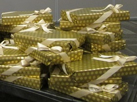 Gift wrapping services are available by prior arrangement. Choose your papers and ribbons and leave your gifts with us! Turnaround times vary. Service charges apply on both Basic and Specialty Wrapping. Service not available from December 20 - 28.