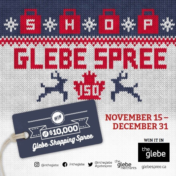 The Glebe Spree is back and better than ever! Along with the grand prize of a $10,000 shopping spree there are five $1,000 cash prizes being drawn. Stickers are awarded with every $15 purchase and 10 stickers fills your ballot. Easy! Plus this year more Any Day surprise gift certificates are being handed out to unsuspecting Glebe shoppers. The Glebe offers so much variety for your everyday and holiday shopping...be sure to play the Spree from November 15th to December 31st!