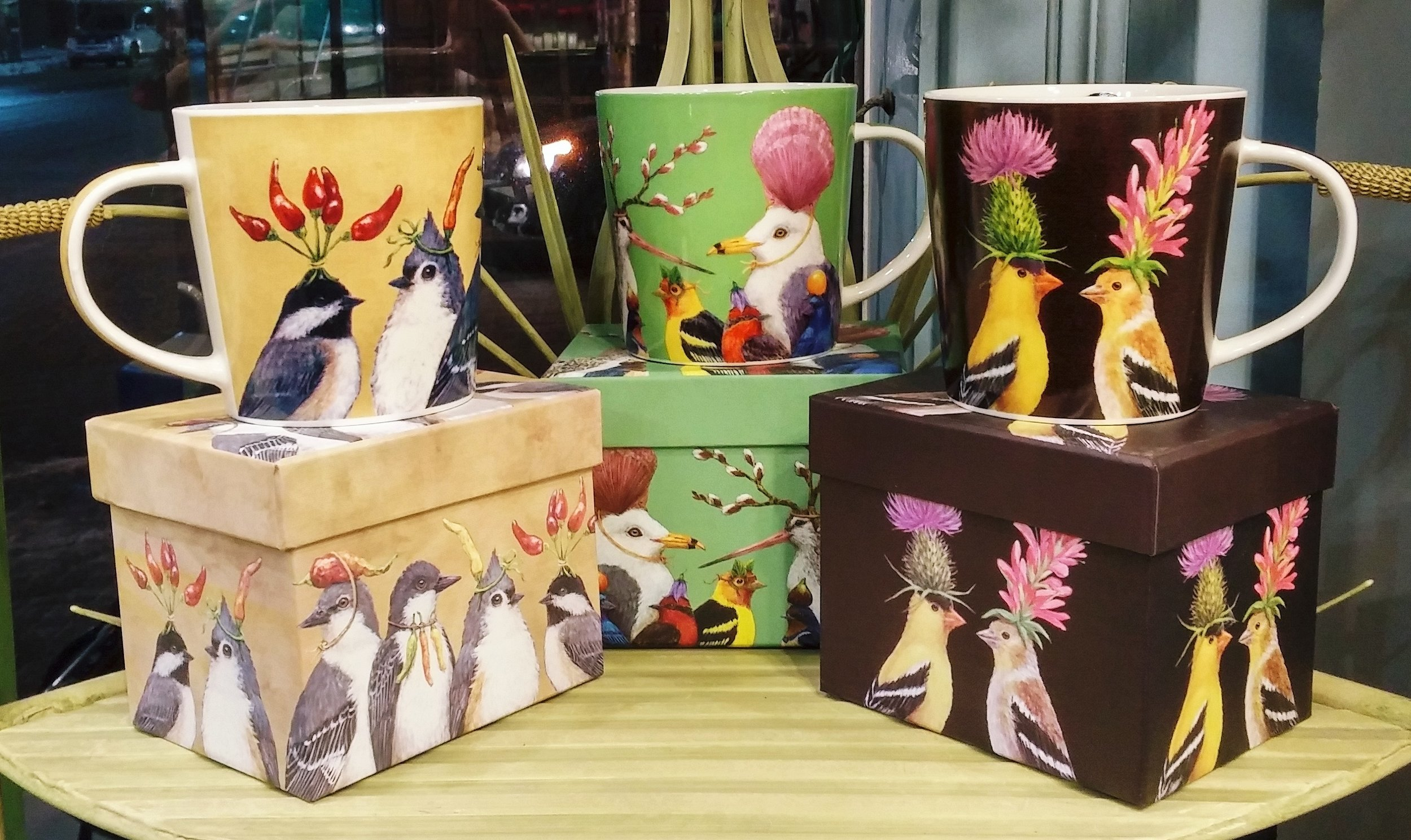 Last minute gift ideas: fanciful mugs, birds sporting fascinators to rival the royals! Boxed and ready to wrap. We are open today until 4 p.m. Merry Christmas from The Papery!!  December 24, 2017