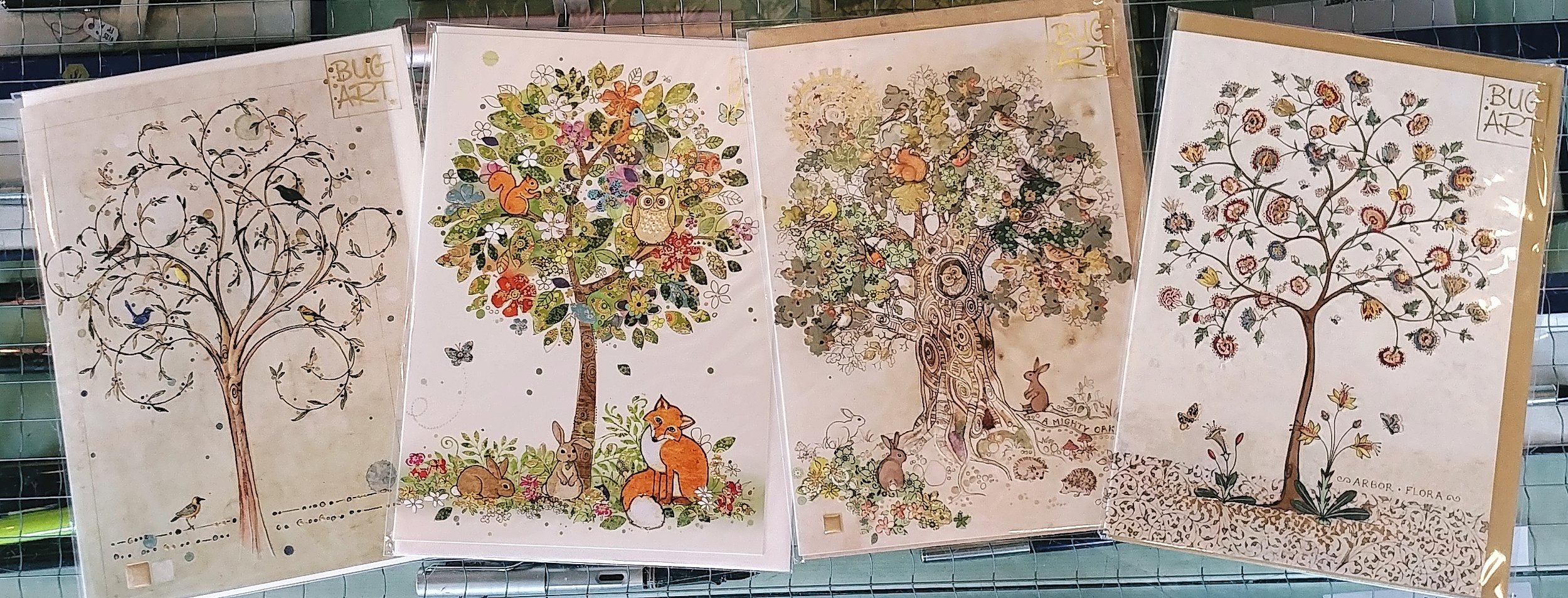 How varied is the tree, and these inspired depictions from Bug Art Cards illustrate the point beautifully.