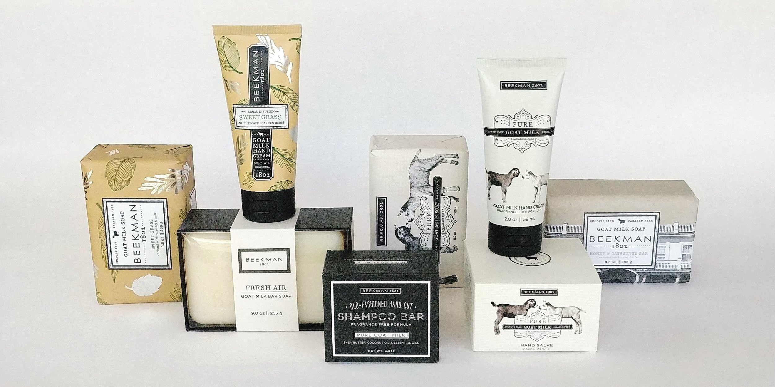 Fresh from the farm… The Fabulous Beekman Boys, who made a splash with their reality TV show in 2010 are now making a splash in your bathtub! Our selection of soaps and lotions will have you kicking up your heels like a kid! (goat, that is).