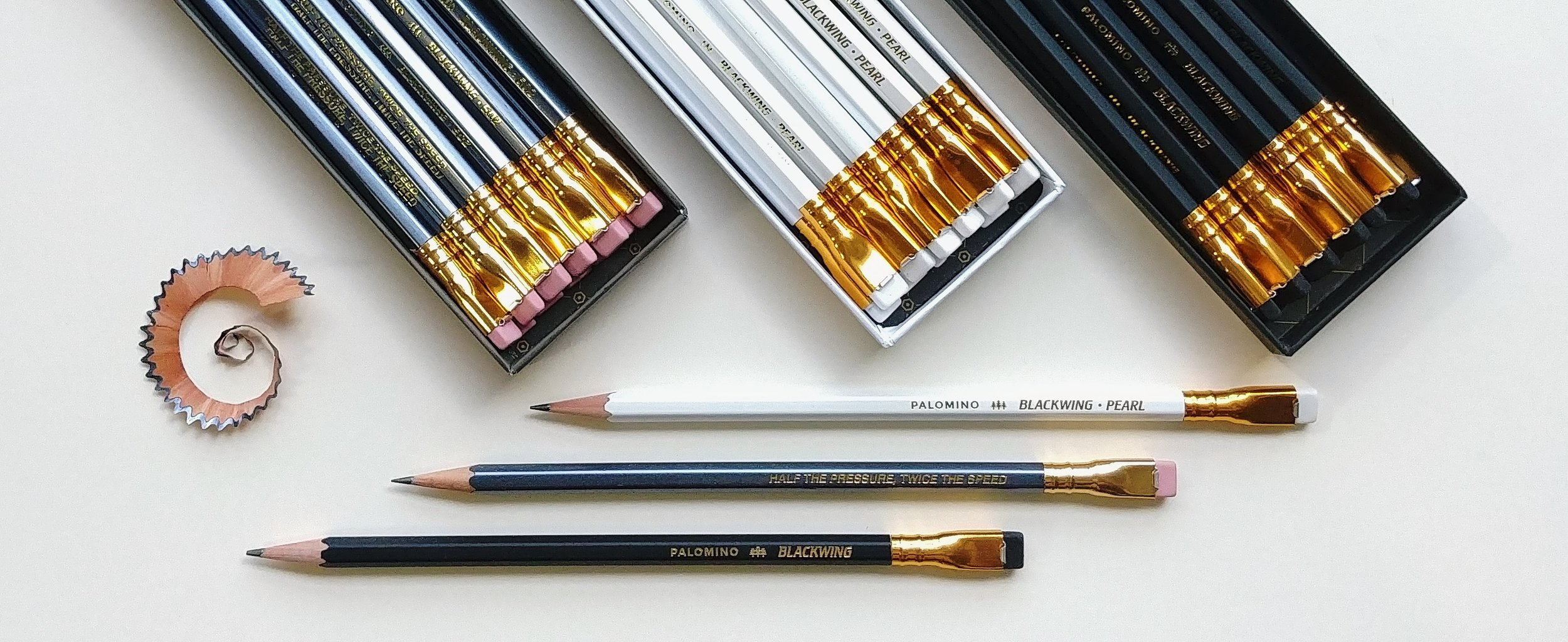 Blackwing pencils were the historical choice for award-winning creators throughout the 20th century. When they were discontinued in the 1990s the scramble was on to grab the remaining stock, pushing the price of a single pencil to as high as $40. Happily for us, the revived brand is much more accessible. It is with great pleasure that we welcome these iconic pencils to our shop.  August 9 2019