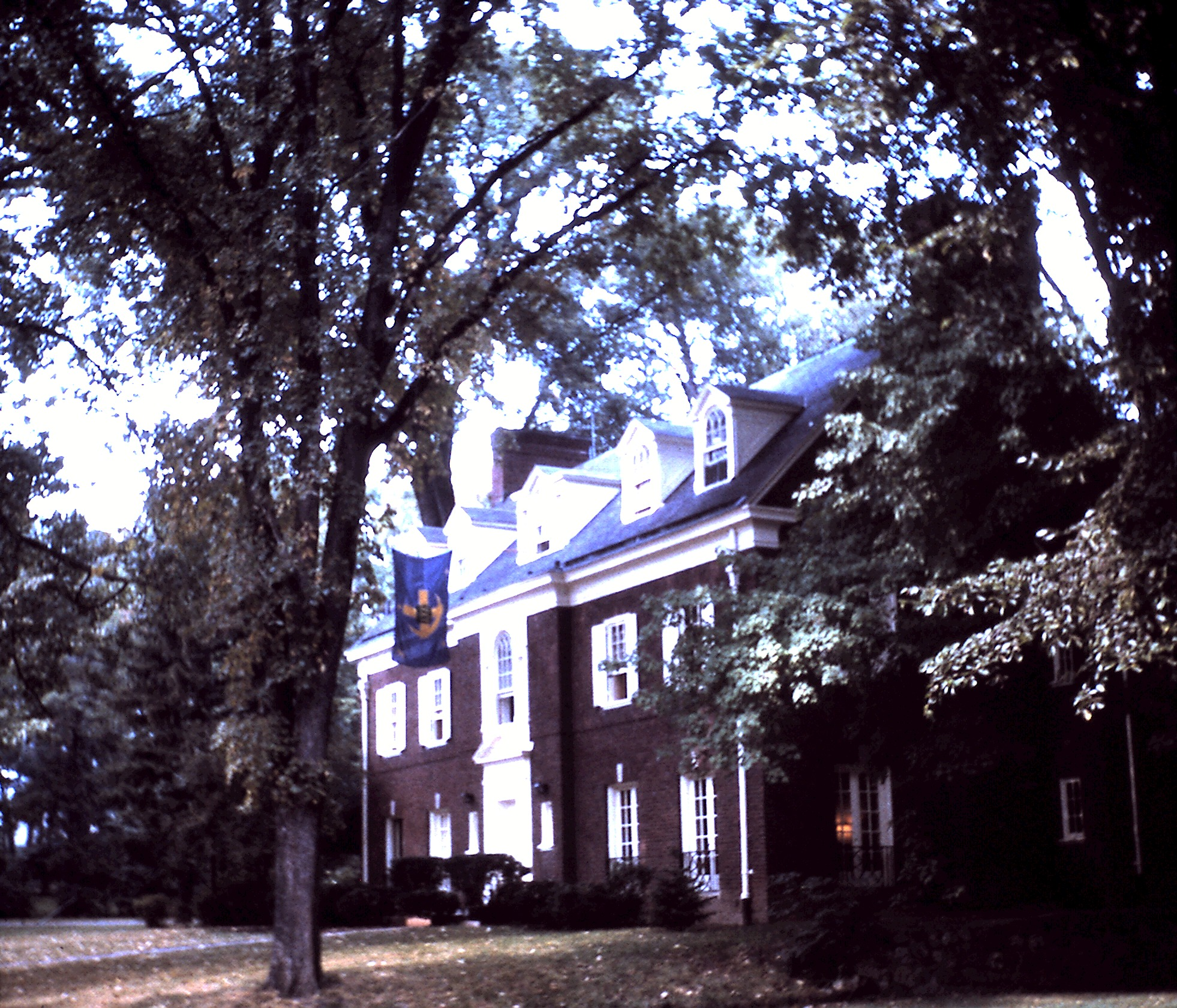 The chapter house from the southwest corner, 1963