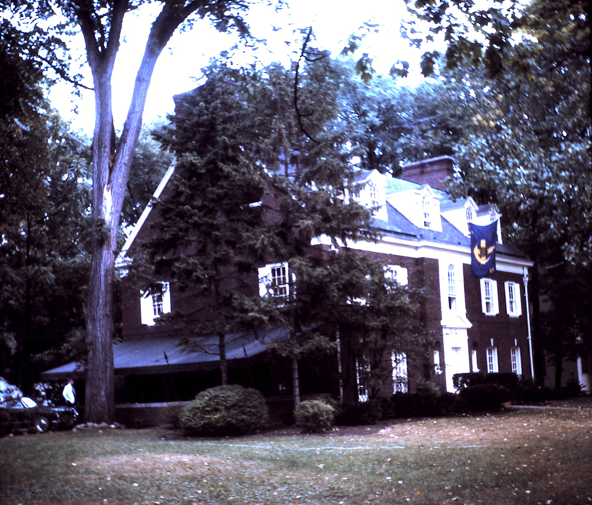 The chapter house from the northwest corner, 1963