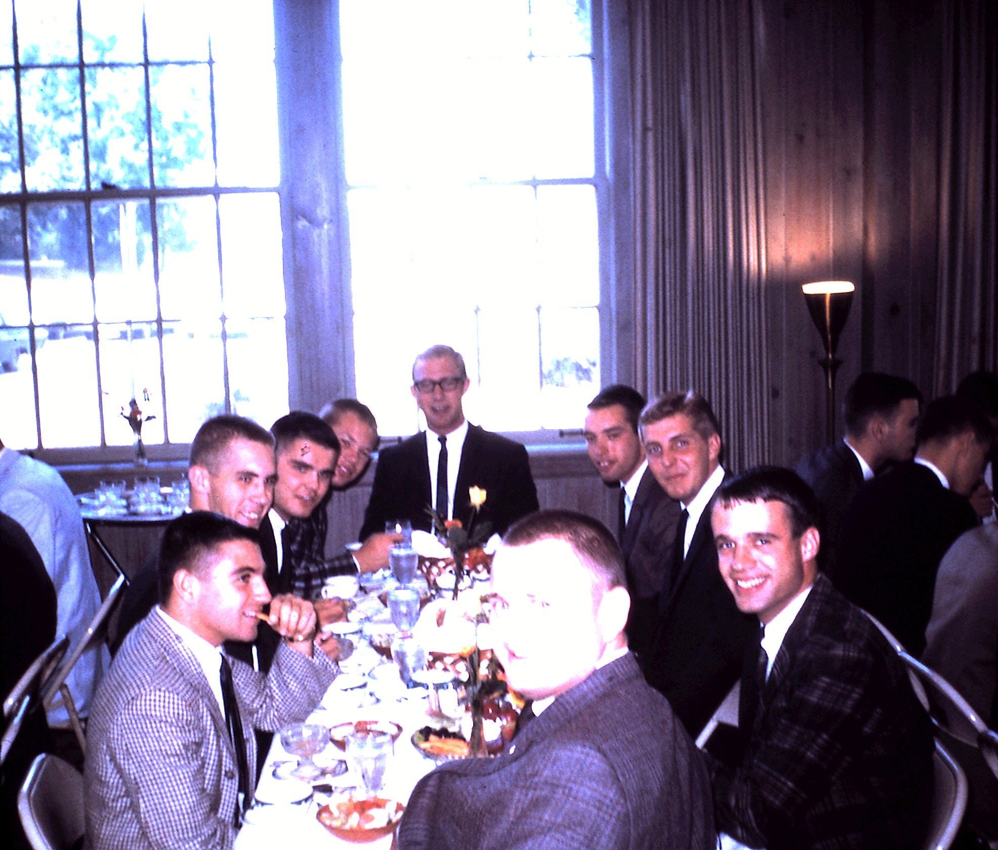 Sigma members at an Initiation banquet, 1963