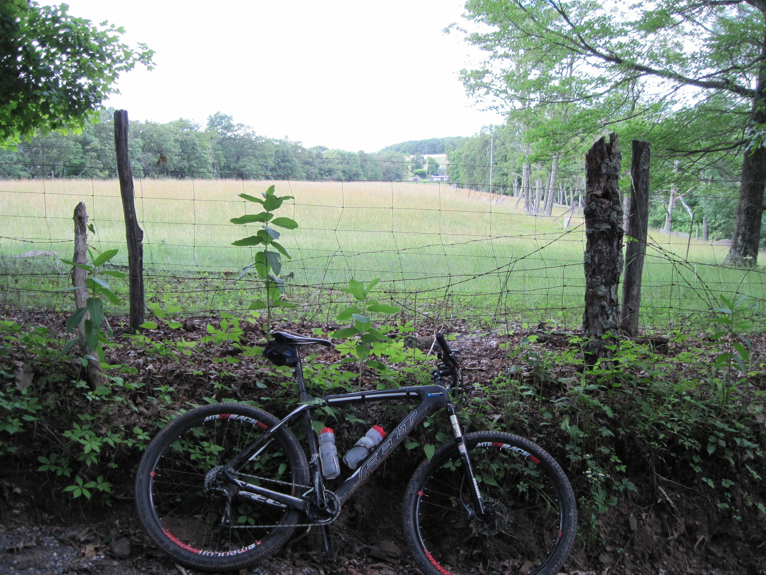 Ridgetop Field and the Bike