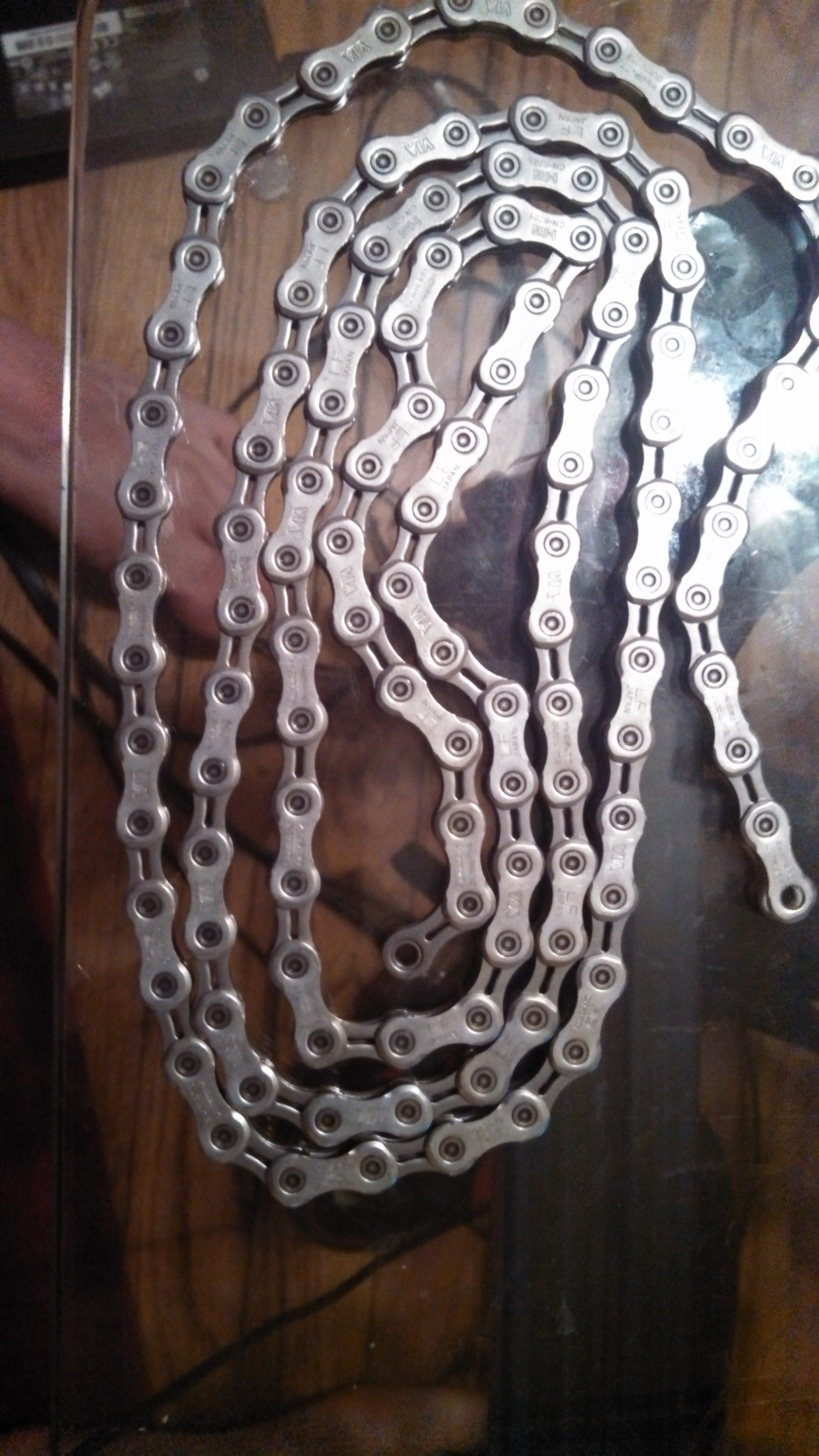 Drive Side of a shimano chain