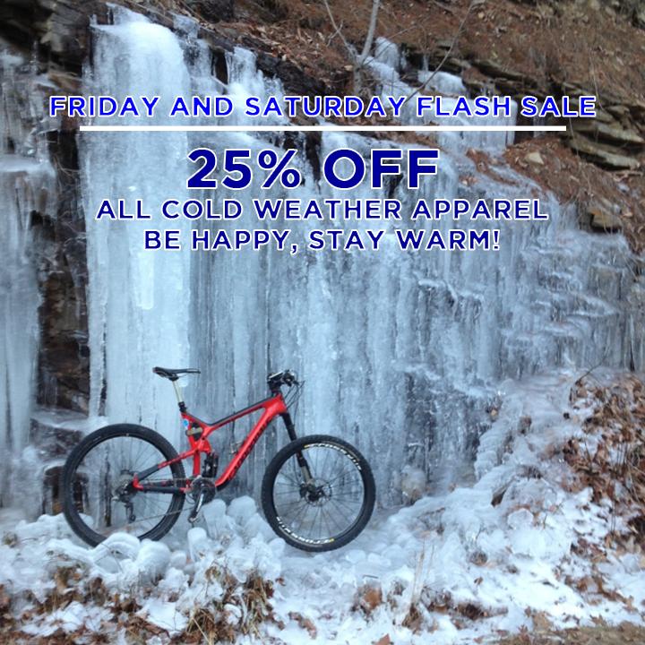 Bluestone Bike & Run Flash Sale - Jan 23 and 24 - Cold Weather Gear