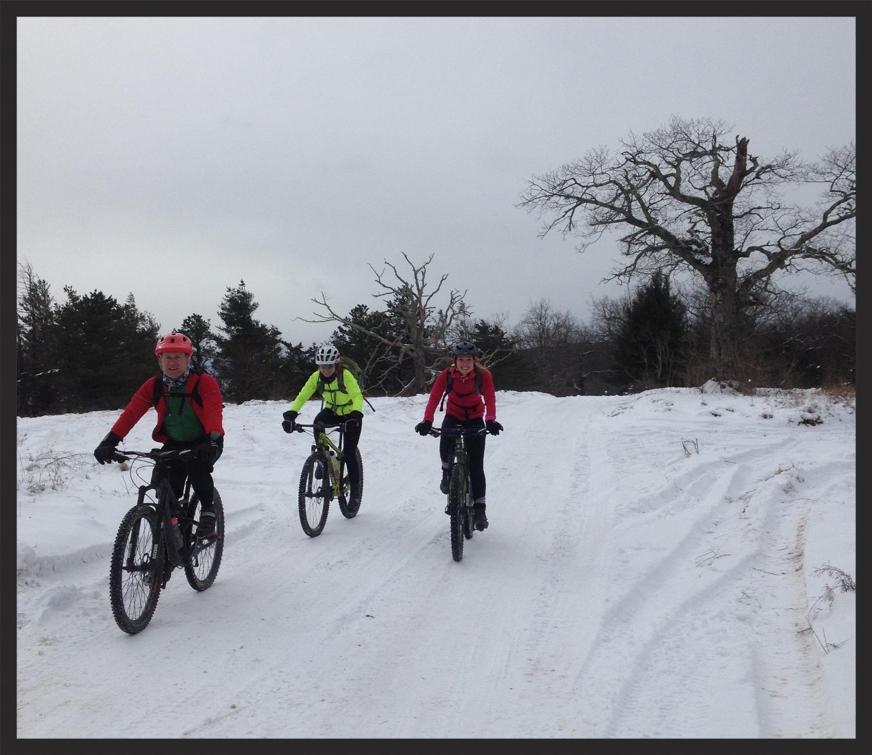 Matt, Kelly and Lindsey enjoying the celestial snow.