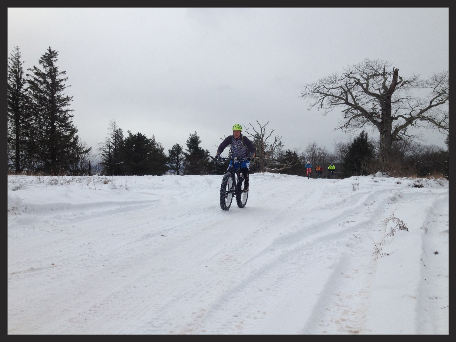 Collin Loves the fat bike in the snow