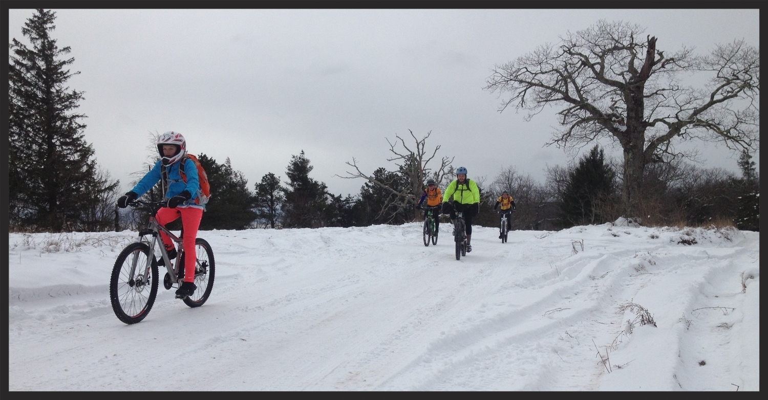 Riders of all ages make the trek to flag pole