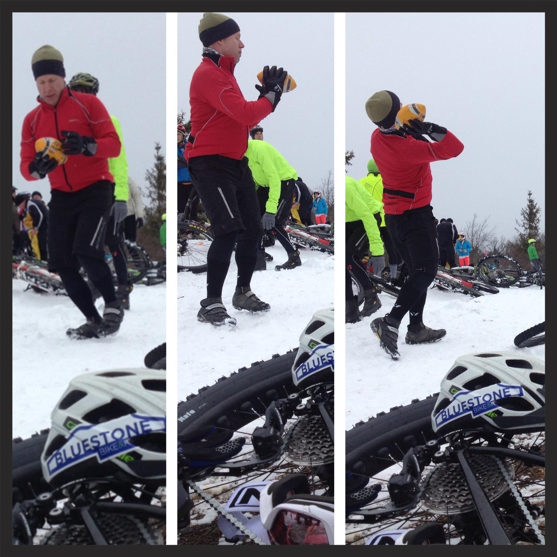 Matt tossing the pig skin above 4000 feet