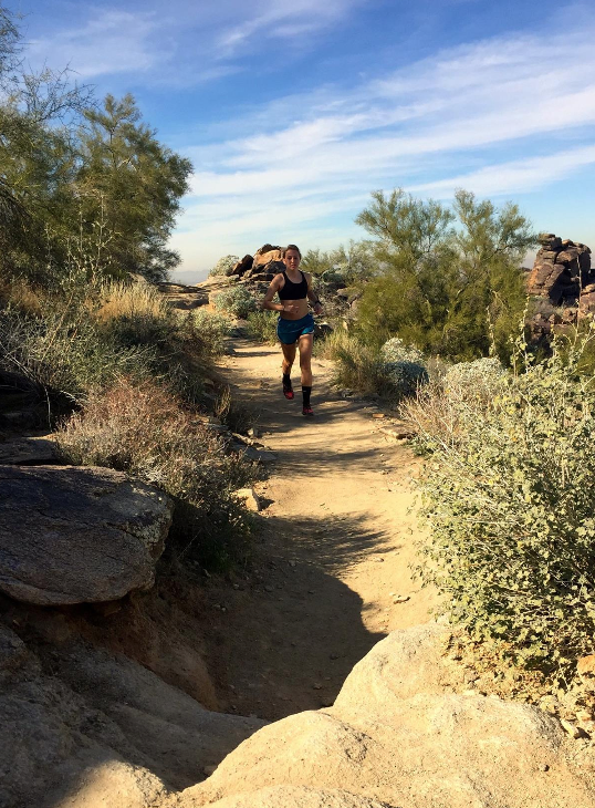 Trail running in Arizona