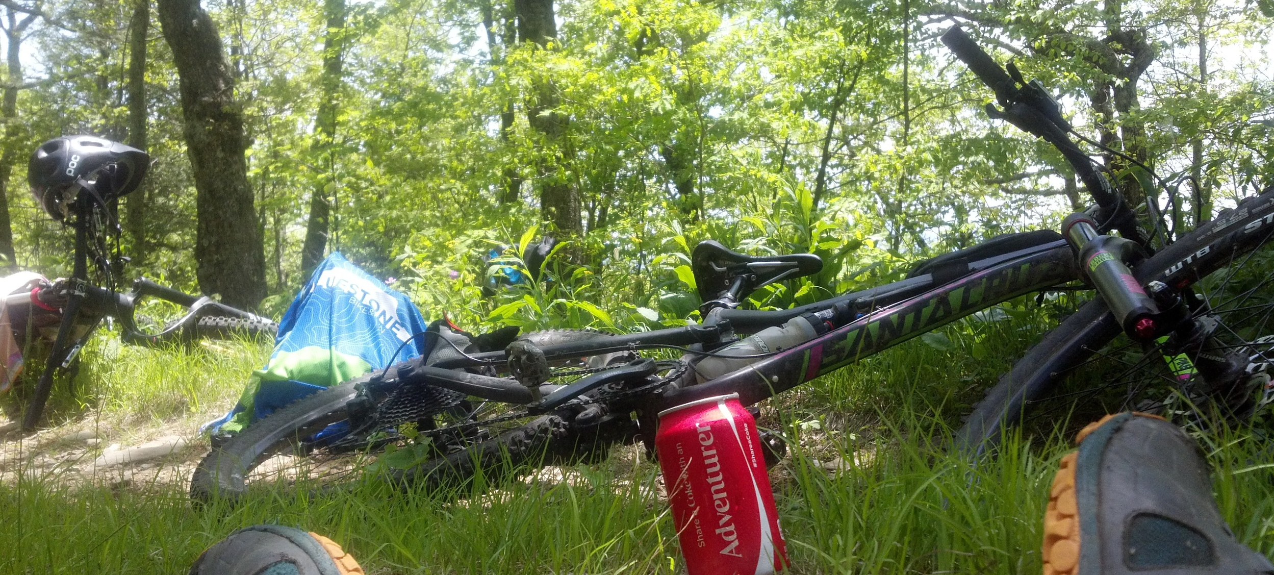 The Santa Cruz Bronson was my weapon of choice, with 150mm of VPP suspension this thing was a trail ripper!