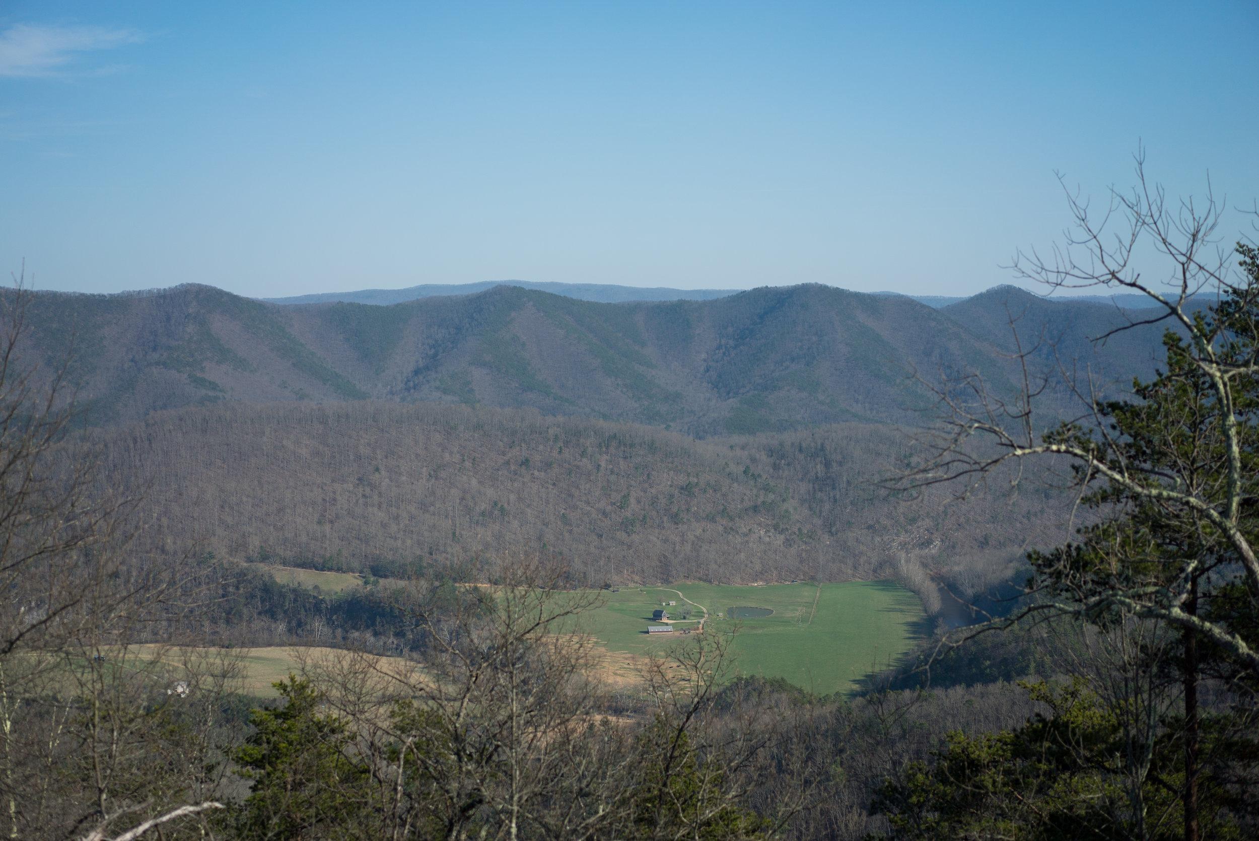 Rewarding view near the end of Beards Mountain