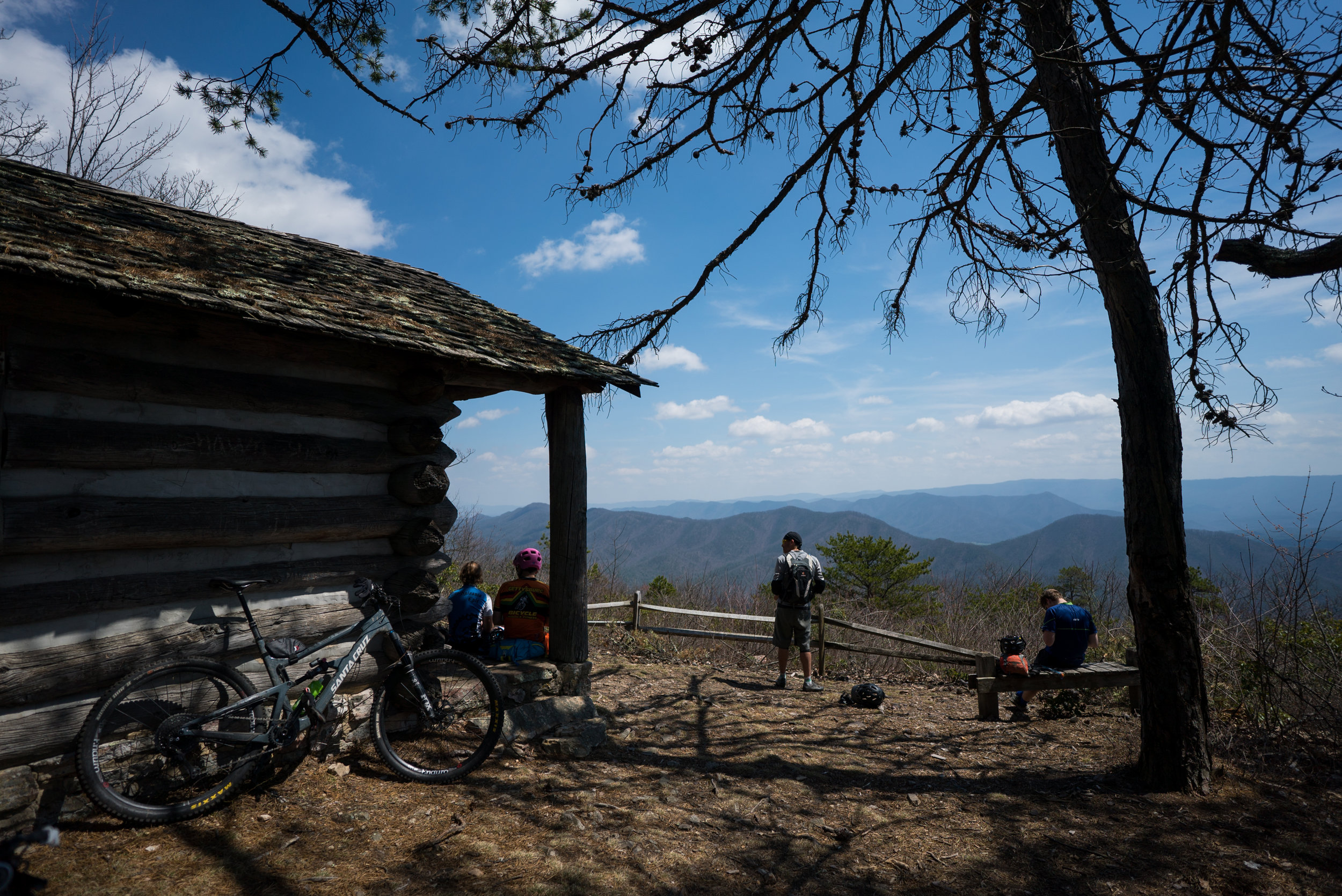 The cabin at the Tuscarora Overlook in Douthat State Park