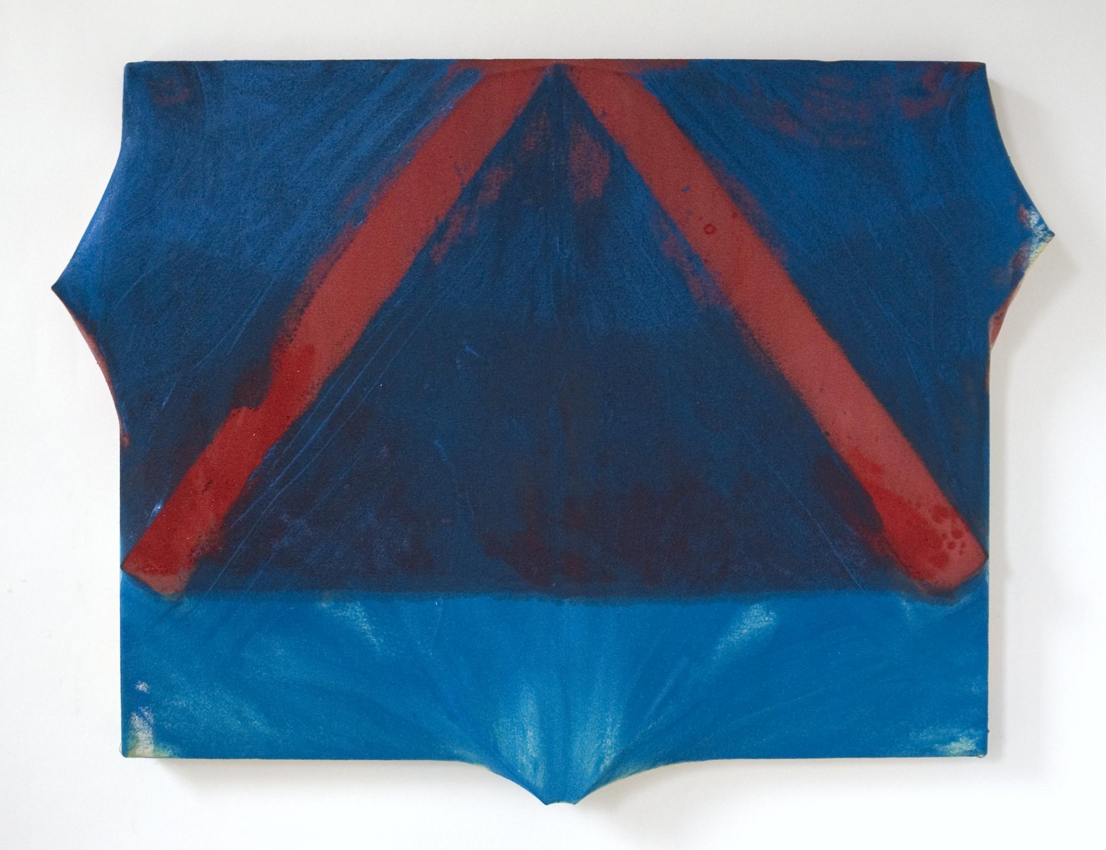 "Victory!   Maria Walker. 2008.  16"" x 22.5"",Acrylic, Unprimed Canvas, Wood,"