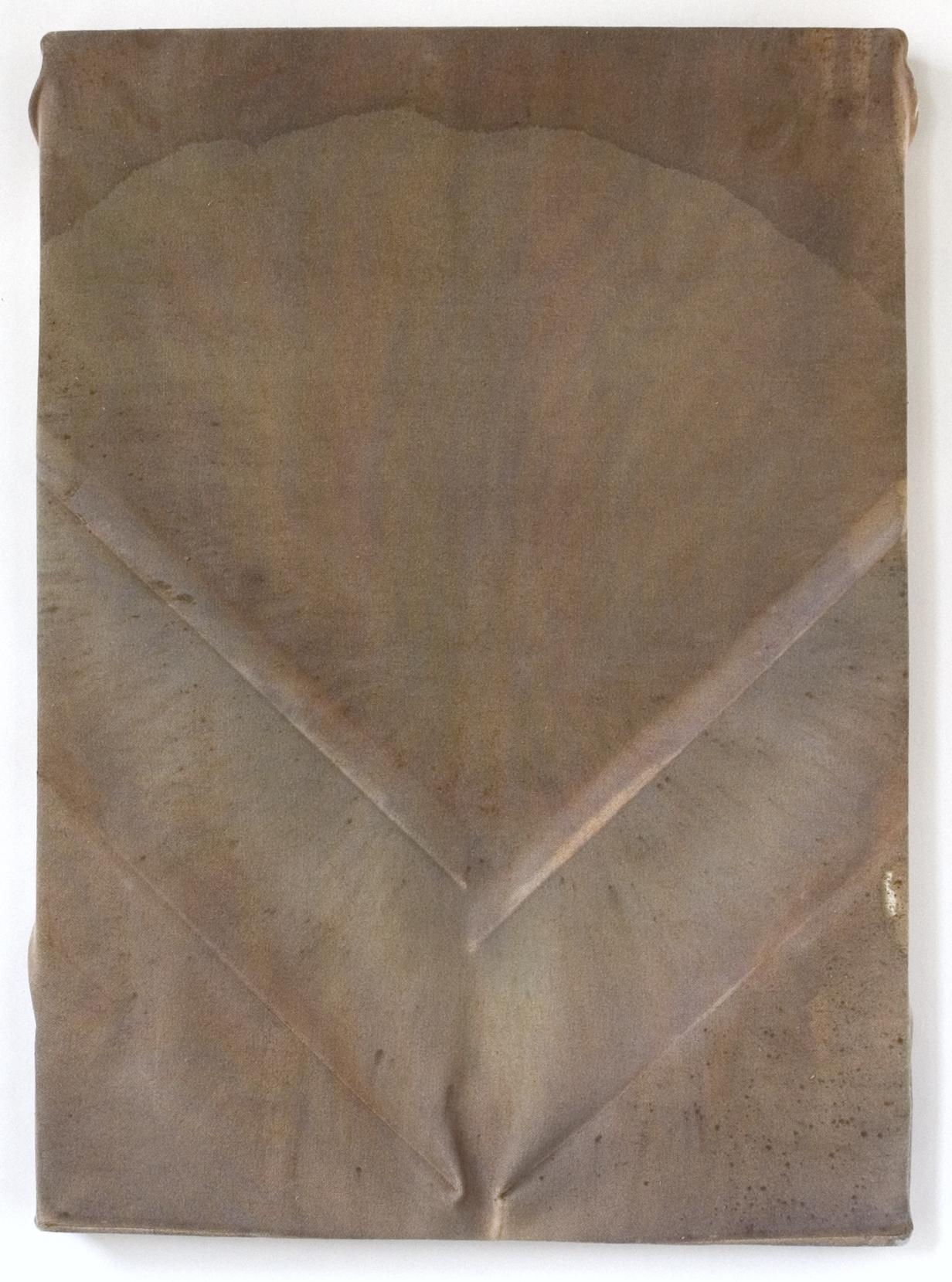 "Back  ,Maria Walker. 2008.  22.25"" x 16"",Acrylic, Unprimed Canvas, Wood."
