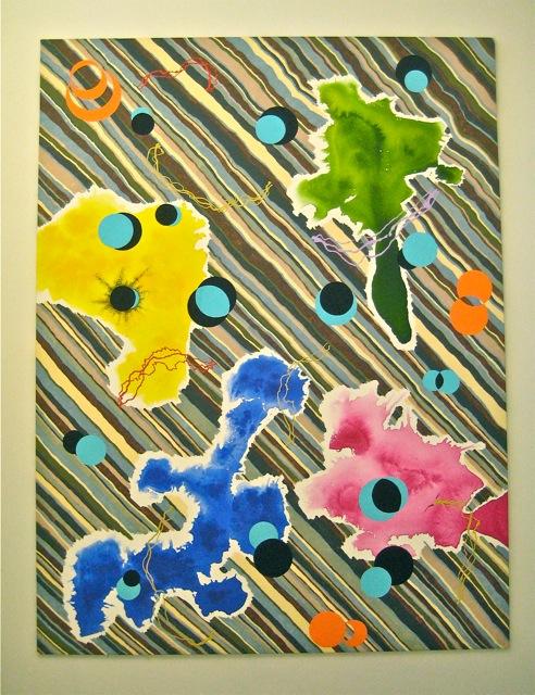 """Strand,   Roger Kizik, 2007   102"""" x77"""", a crylic on canvas"""