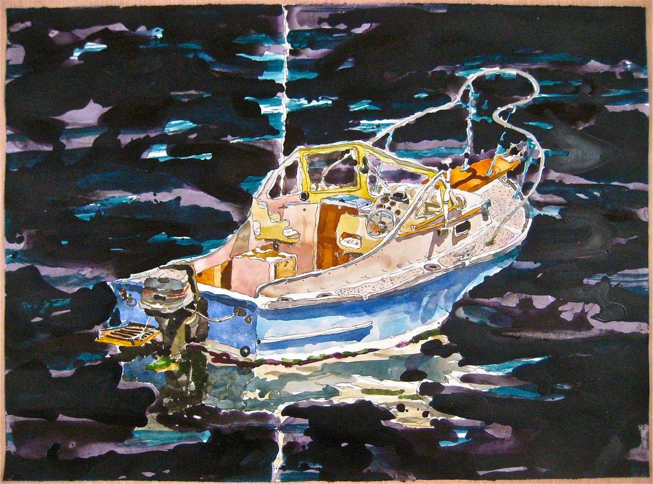 "Sakonnet I  , Roger Kizik, 2011     22""x30"", watercolor, acrylic"