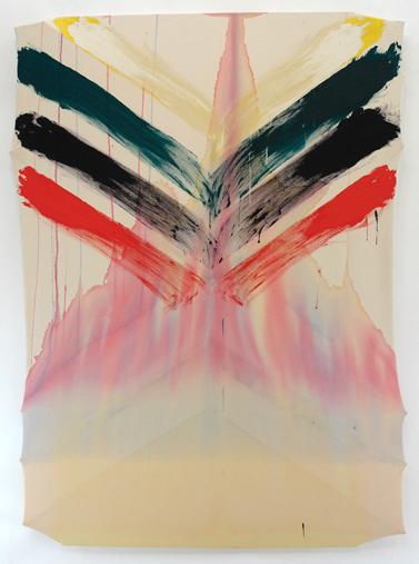 "Untitled  , Maria Walker. 2009.  71.5 x 49.75"",Acrylic, canvas, wood."