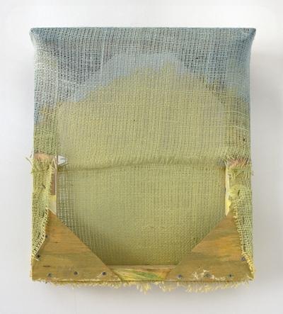 "Untitled  , Maria Walker. 2011.  16 x 14.25 x 4.5"",Acrylic, canvas, burlap."