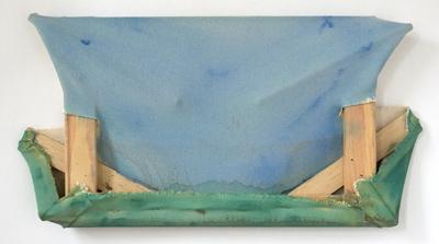 """Working On  , Maria Walker. 2008.  10.75"""" x 21.25"""",Acrylic, canvas, wood"""