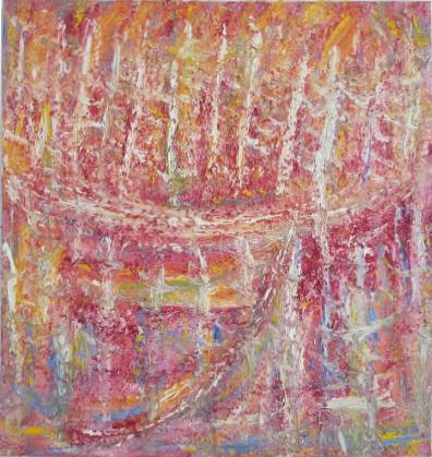 """Fox Island #1,   Charles Miller, 2011.  34"""" x 32"""",oil on linen."""