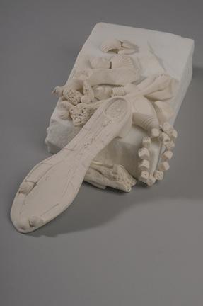 "Marina di Pietrasanta  , Susan Schultz, 2012.                 4"" x   13"" x 13"", porcelain, Carrara marble"