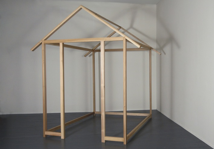 "Home,   Joan Backes  8' x 7' 2"" x 7' 3"", Hand waxed Poplar"
