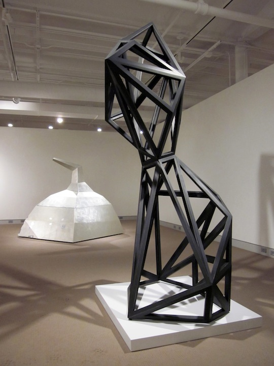"Counterpoise  Joshua Enck  96""x26""x52"" wood, graphite, paint 2010"