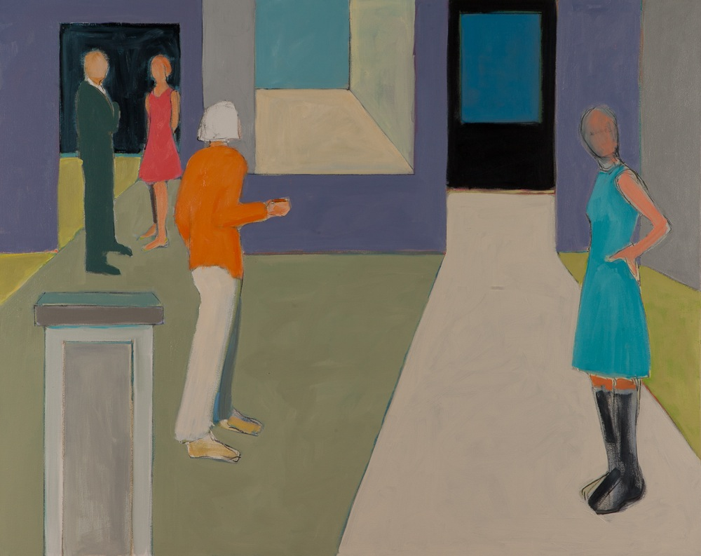 "At The Gallery  ,  Sarah Benham, 2012.   48"" x 60"", Oil on canvas"