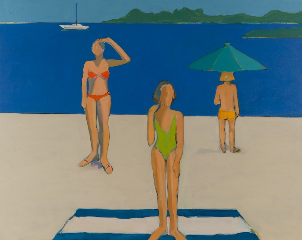 "The Green Bathing Suit  , Sarah Benham, 2012.   48"" x 60"", Oil on canvas."