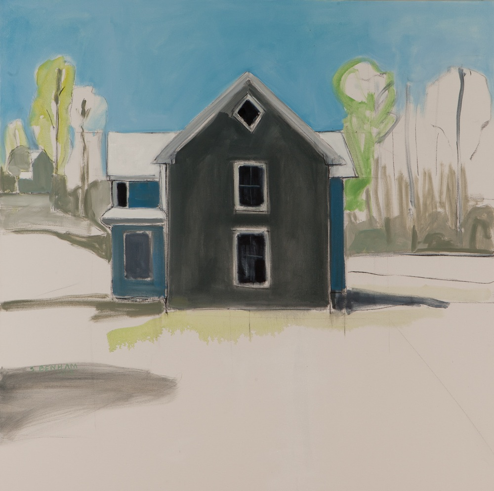 "Tidewater Farmhouse  , Sarah Benham, 2011.   48"" x 48"", Oil on canvas."