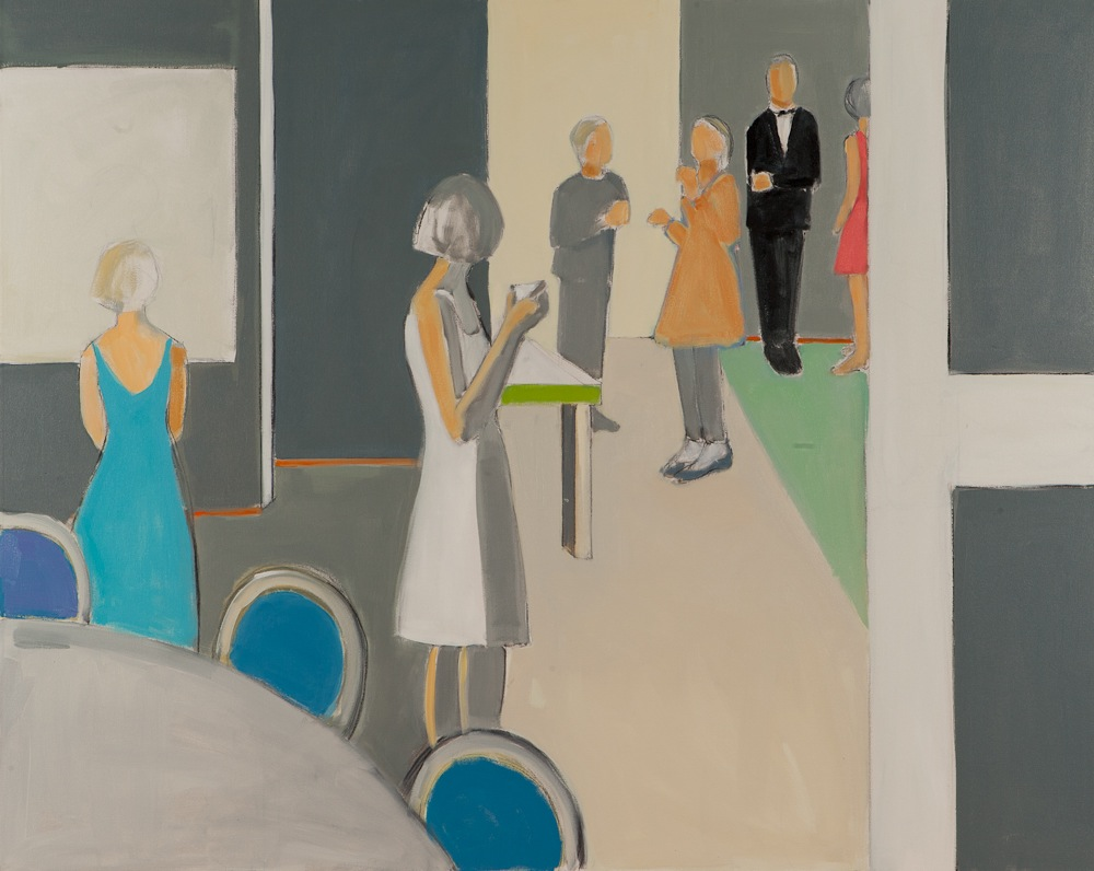 "The Dinner Party  , Sarah Benham, 2012.   48"" x 60"", Oil on canvas."